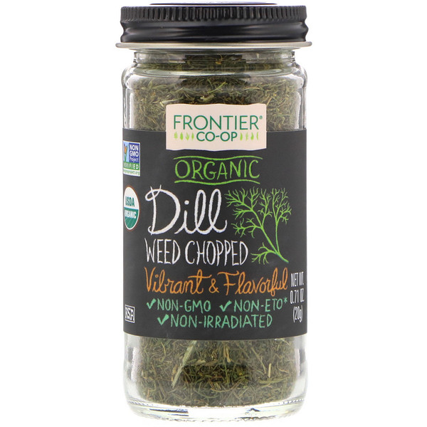 Frontier Natural Products, Organic Dill Weed, Chopped, 0.71 oz (20 g)
