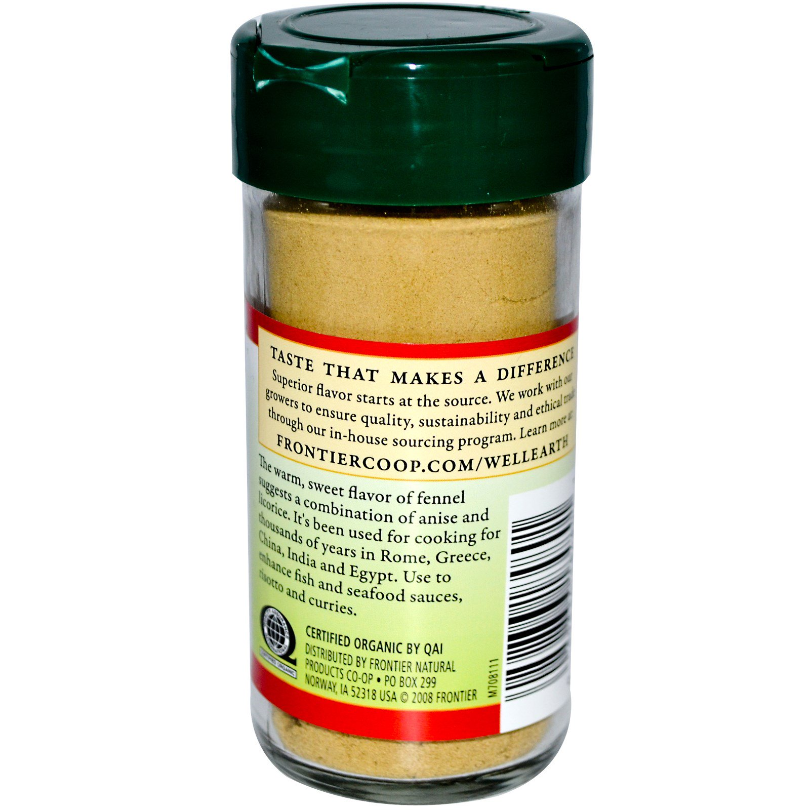 Frontier Natural Products, Органические молотые семена фенхеля, 1,48 унции (42 г)