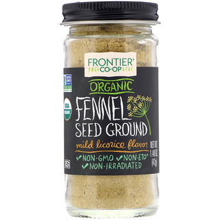 Frontier Natural Products, Organic Fennel Seed Ground, Mild Licorice , 1.48 oz (42 g)