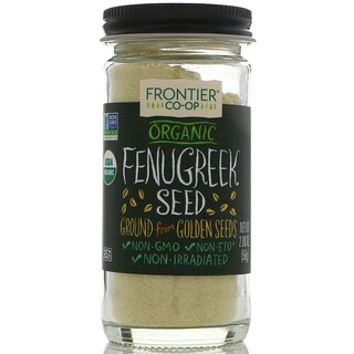 Frontier Natural Products, Organic Fenugreek Seed, Ground, 2.00 oz (56 g)