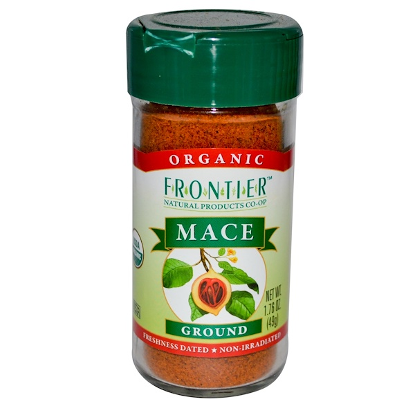 Frontier Natural Products, オーガニック メース, 粉末状, 1.76 オンス (49 g) (Discontinued Item)