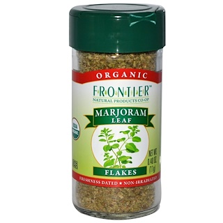 Frontier Natural Products, Organic Marjoram Leaf Flakes, 0.40 oz (11 g)