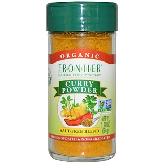 Frontier Natural Products, Organic Curry Powder, Salt-Free Blend, 1.90 oz (54 g)