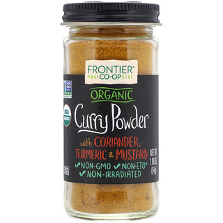 Frontier Natural Products, Organic Curry Powder, With Coriander, Turmeric & Mustard, 1.90 oz (54 g)