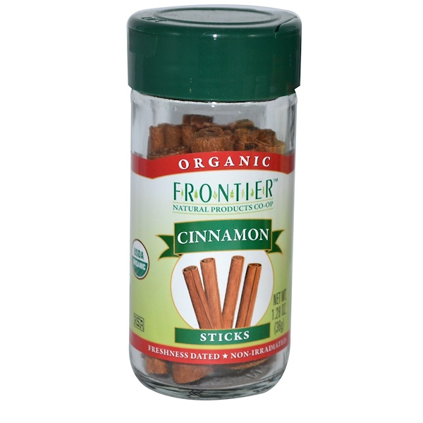 Frontier Natural Products, Organic Cinnamon, Sticks, 1.28 oz (36 g) (Discontinued Item)