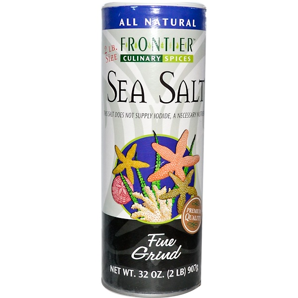 Frontier Natural Products, Culinary Spices, Sea Salt, Fine Grind, 32 oz (907 g) (Discontinued Item)