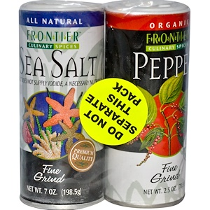 Фронтьер Нэчурал Продактс, Culinary Spices, Salt & Pepper Combo Pack отзывы