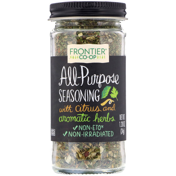 Frontier Natural Products, All-Purpose Seasoning, With Citrus and Aromatic Herbs, 1.20 oz (34 g)