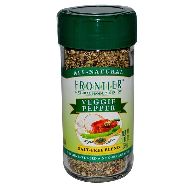 Frontier Natural Products, Veggie Pepper, Salt-Free Blend, 1.9 oz (54 g) (Discontinued Item)