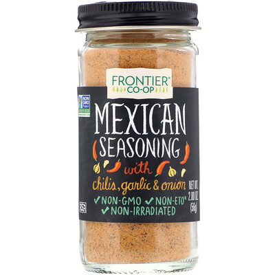 Mexican Seasoning, With Chilis, Garlic & Onion, 2.00 oz (56 g)