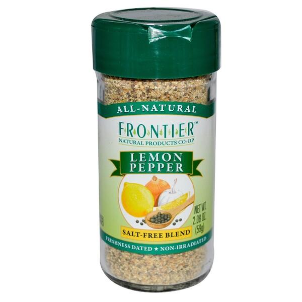 Frontier Natural Products, Лимон и перец, бессолевая смесь 2.08 унции (59 г) (Discontinued Item)