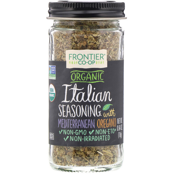 Frontier Natural Products, Organic Italian Seasoning with Mediterranean Oregano, 0.64 oz (18 g)