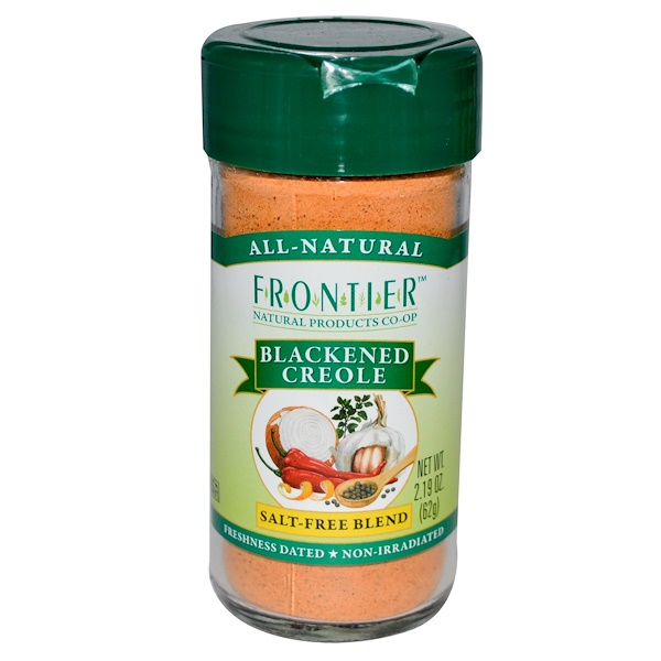 Frontier Natural Products, Blackened Creole, Salt-Free Blend, 2.19 oz (62 g) (Discontinued Item)