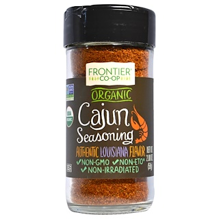 Frontier Natural Products, Organic Cajun Seasoning, Louisiana Flavor, 2.08 oz (59 g)