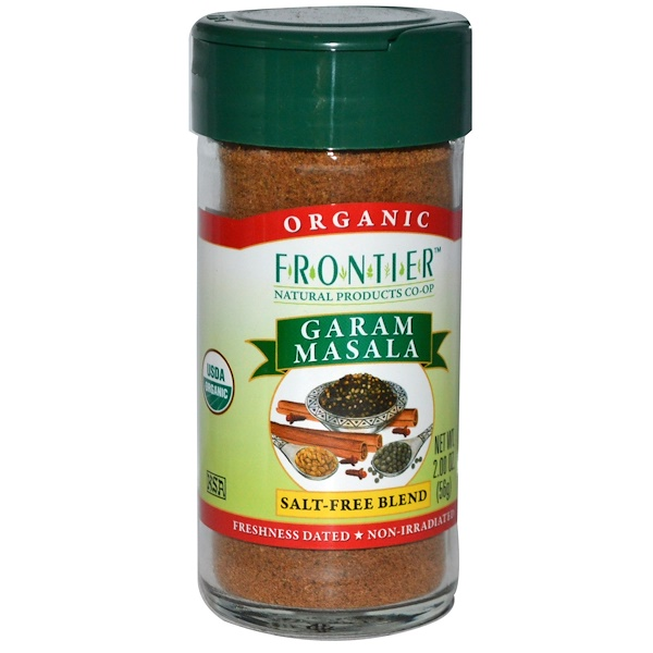 Frontier Natural Products, Organic Garam Masala, Salt-Free Blend, 2 oz (56 g)
