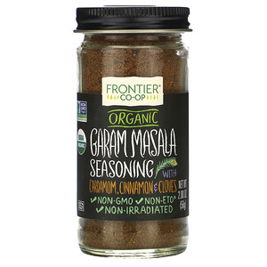 Фронтьер Нэчурал Продактс, Organic Garam Masala Seasoning with Cardamon, Cinnamon & Cloves, 2.00 oz (56 g) отзывы покупателей