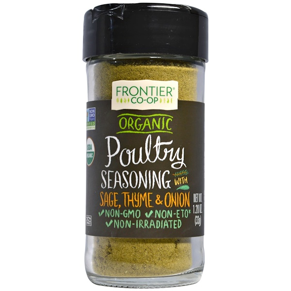 Frontier Natural Products, Organic Poultry Seasoning, 1.20 oz (33 g)