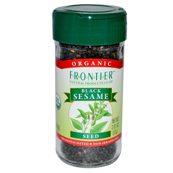 Frontier Natural Products, Black Sesame Seed, 2.01 oz (57 g) (Discontinued Item)