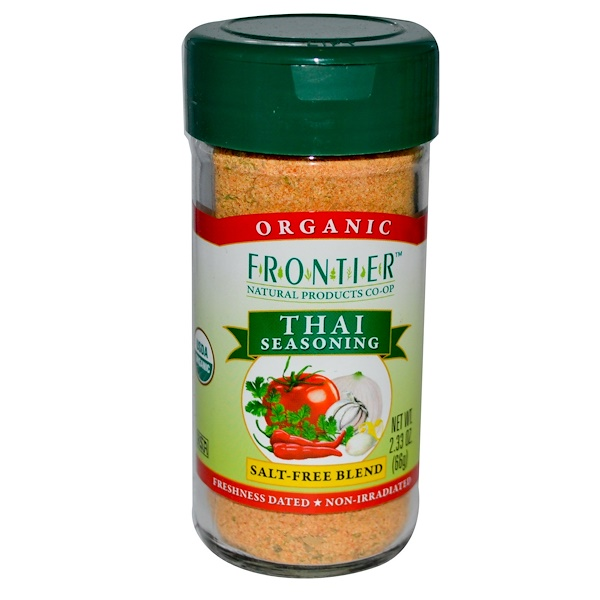 Frontier Natural Products, Organic Thai Seasoning, Salt-Free Blend, 2.33 oz (66 g) (Discontinued Item)