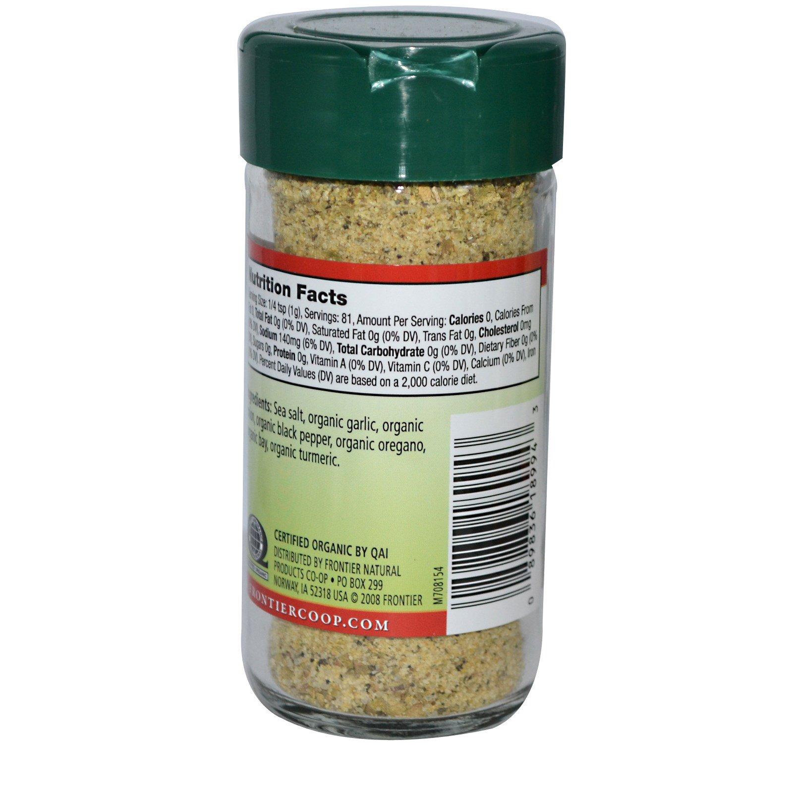 Frontier Natural Products, Органическая приправа адобо, смесь приправ, 2,86 унции (81 г)