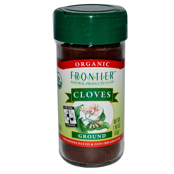 Frontier Natural Products, Organic Fair Trade, Cloves, Ground, 1.90 oz (53 g) (Discontinued Item)