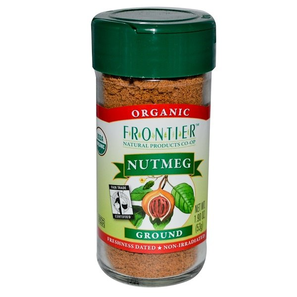 Frontier Natural Products, Organic, Nutmeg, Ground, 1.90 oz (53 g) (Discontinued Item)