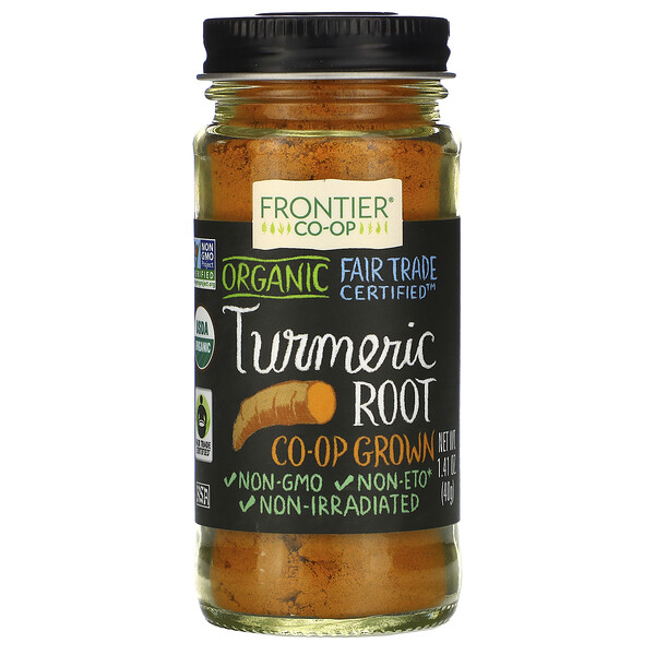 Frontier Natural Products, Organic Turmeric Root, 1.41 oz (40 g)
