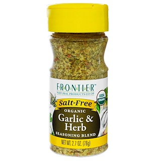 Frontier Natural Products, Organic Garlic & Herb Seasoning Blend, 2.7 oz (76 g)