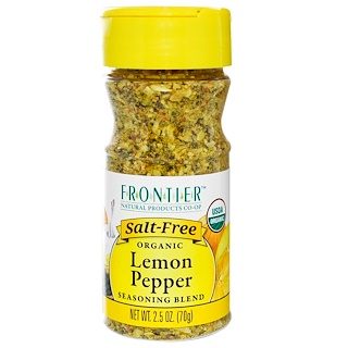 Frontier Natural Products, Organic Lemon Pepper Seasoning Blend, 2.5 oz (70 g)