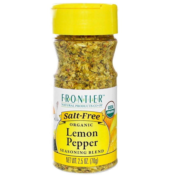 Frontier Natural Products, Organic Lemon Pepper Seasoning Blend, 2.5 oz (70 g) (Discontinued Item)