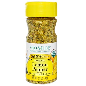 Фронтьер Нэчурал Продактс, Organic Lemon Pepper Seasoning Blend, 2.5 oz (70 g) отзывы покупателей