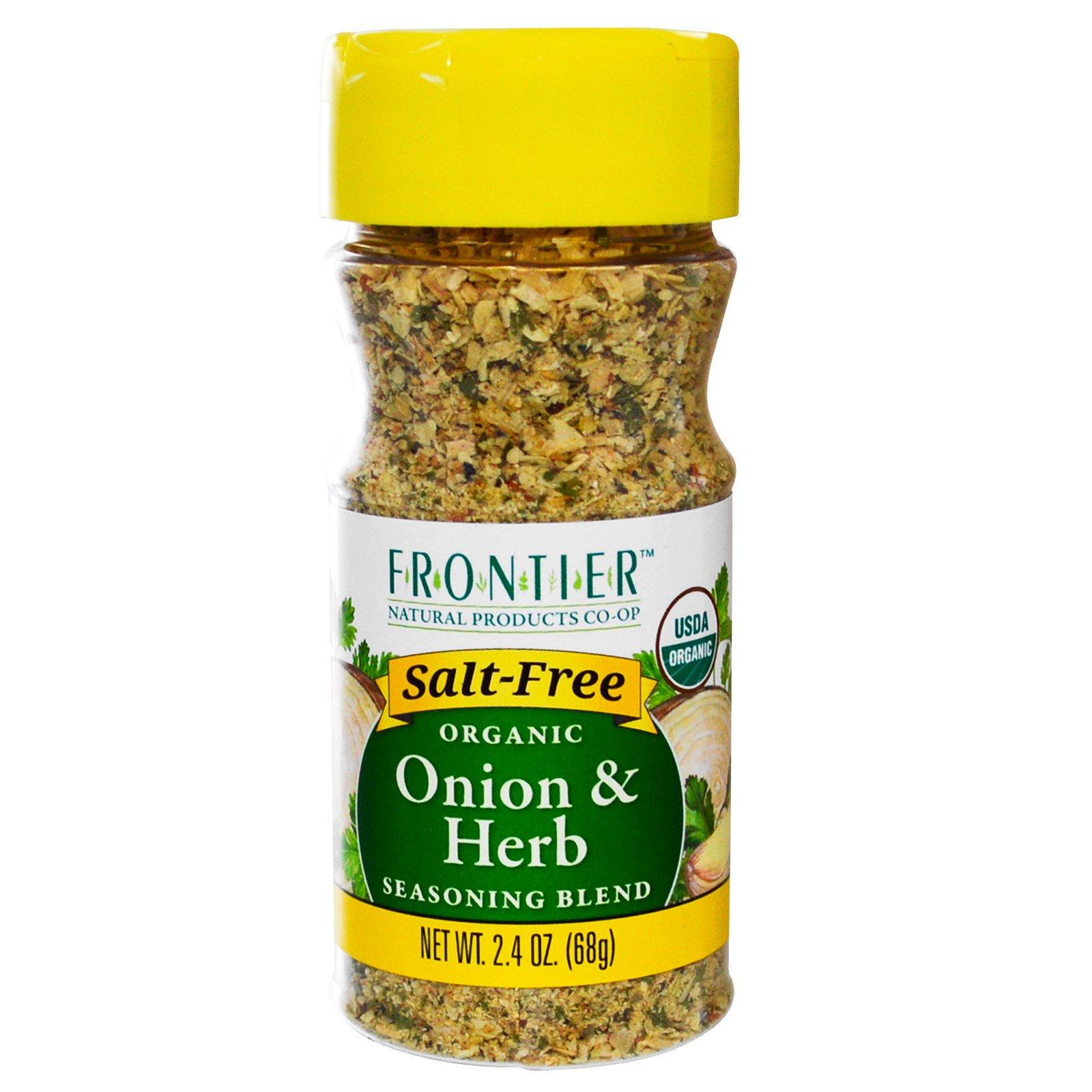 Frontier Natural Products, Органический лук и травы, смесь специй, 68 г (2,4 унции)