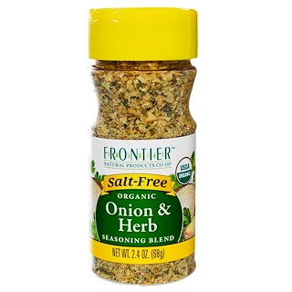Frontier Natural Products, Organic Onion & Herb, Seasoning Blend, 2.4 oz (68 g)