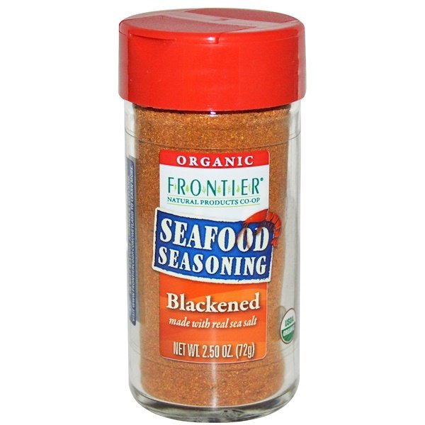 Frontier Natural Products, Organic, Seafood Seasoning, Blackened, 2.50 oz (72 g) (Discontinued Item)