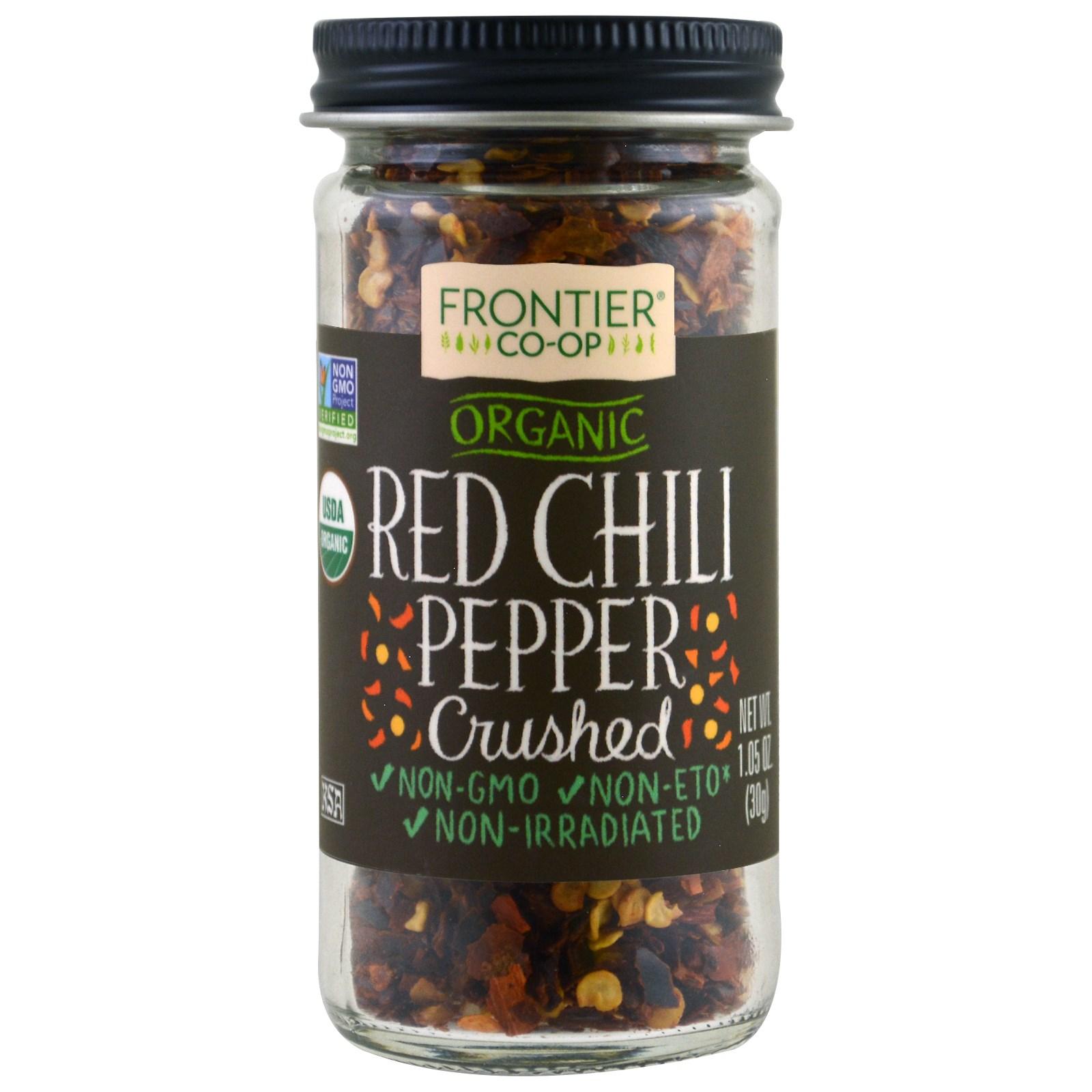 Frontier Natural Products, Органический продукт, красный перец, измельченный, 1.05 унц. (30 г.)
