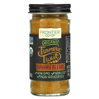 Frontier Natural Products, Organic Turmeric Twist, Savory Blend, 2.50 oz (70 g)