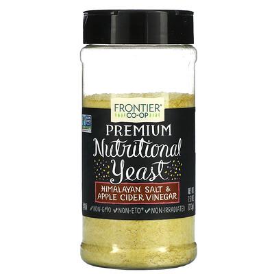 Frontier Natural Products Premium Nutritional Yeast, Himalayan Salt & Apple Cider Vinegar, 7.51 oz (213 g)