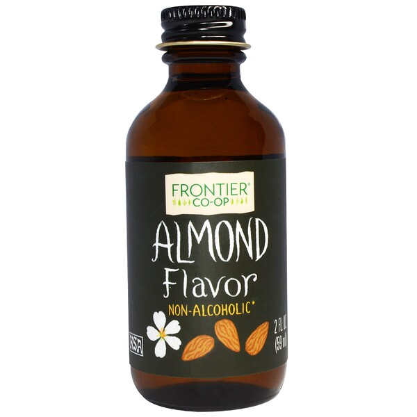 Frontier Natural Products, Almond Flavor, Non-Alcoholic, 2 fl oz (59 ml)