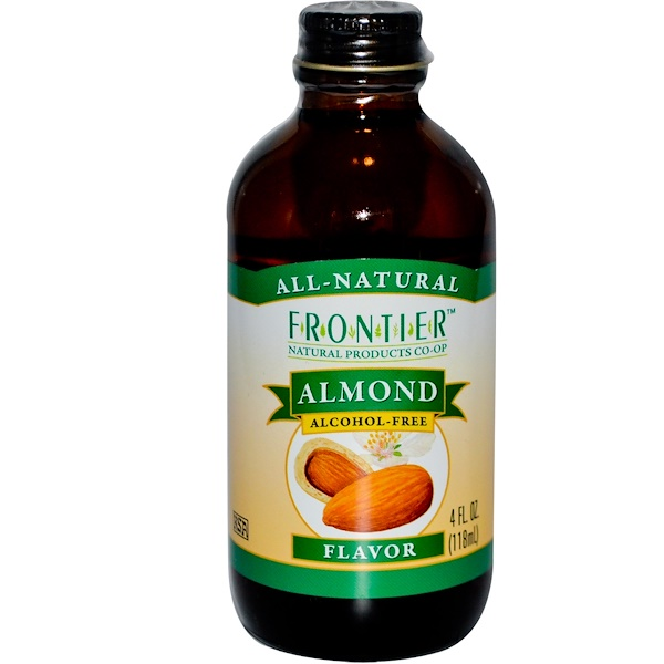 Frontier Natural Products, Вкус миндаля, без алкоголя 4 жидких унции (118 мл) (Discontinued Item)