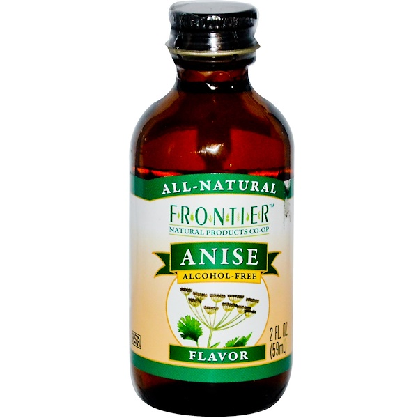 Frontier Natural Products, Anise Flavor, Alcohol-Free, 2 fl oz (59 ml) (Discontinued Item)