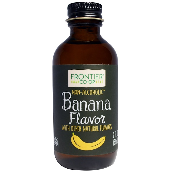 Frontier Natural Products, Banana Flavor, Non-Alcoholic, 2 fl oz (59 ml)