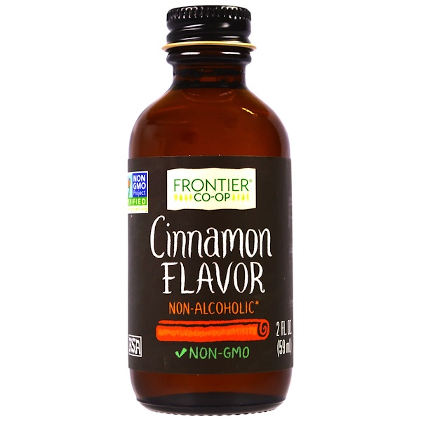 Frontier Natural Products, Cinnamon Flavor, Non-Alcoholic, 2 fl oz (59 ml) (Discontinued Item)