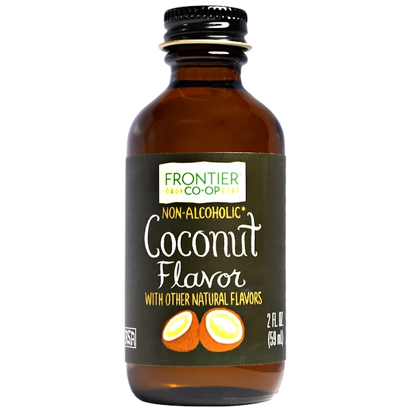 Frontier Natural Products, Coconut Flavor, Non-Alcoholic, 2 fl oz (59 ml) (Discontinued Item)