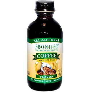 Frontier Natural Products, Coffee Flavor, Alcohol-Free, 2 fl oz (59 ml)