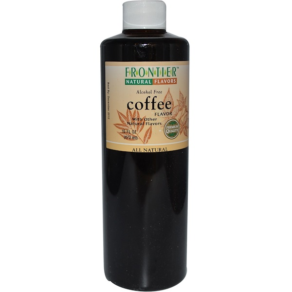 Frontier Natural Products, Coffee Flavor, Alcohol Free, 16 fl oz (473 ml) (Discontinued Item)