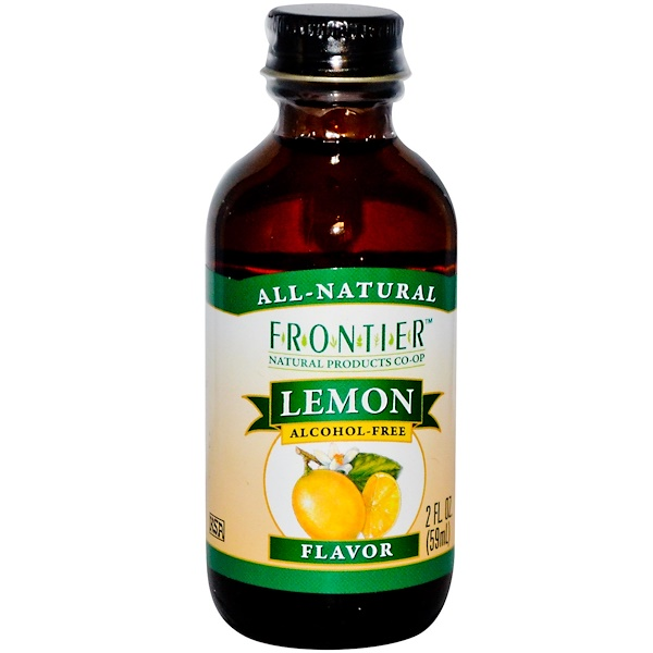 Frontier Natural Products, Lemon Flavor, Alcohol-Free, 2 fl oz (59 ml) (Discontinued Item)