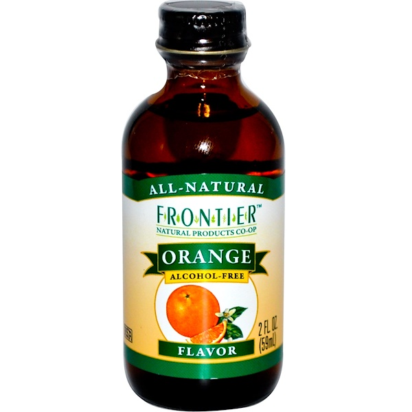 Frontier Natural Products, Orange Flavor, Alcohol-Free, 2 fl oz (59 ml) (Discontinued Item)