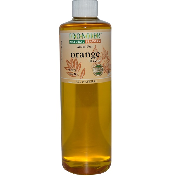 Frontier Natural Products, Orange Flavor, Alcohol Free, 16 fl oz (473 ml) (Discontinued Item)