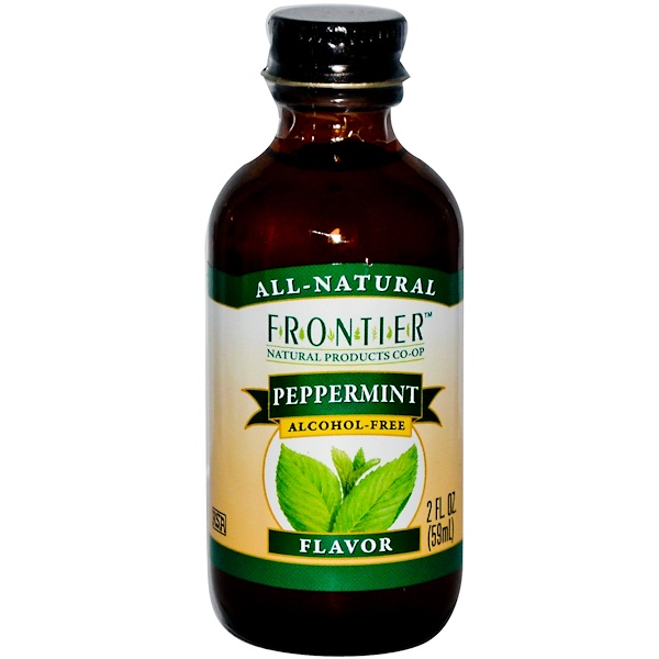 Frontier Natural Products, Peppermint Flavor, Alcohol-Free, 2 fl oz (59 ml) (Discontinued Item)