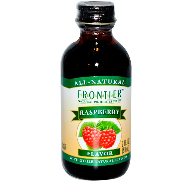 Frontier Natural Products, Raspberry Flavor, 2 fl oz (59 ml) (Discontinued Item)
